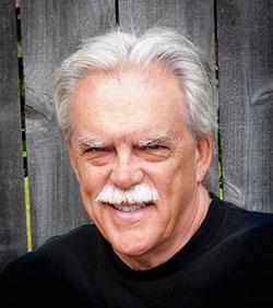 Kevin Clark Portrait in Black Shirt, Outdoors, Closeup