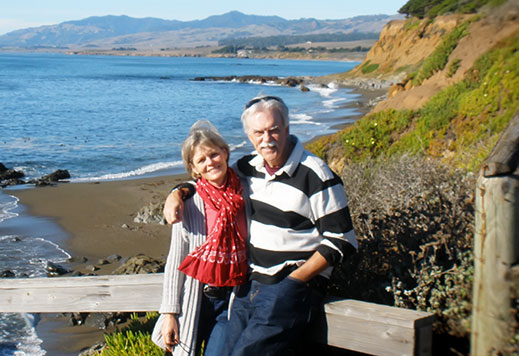 Kevin Clark and Amy Hewes Together at Moonstone Beach, California