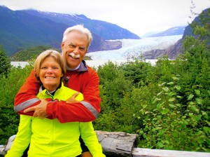 Kevin Clark and Amy Hewes Together Outdoors